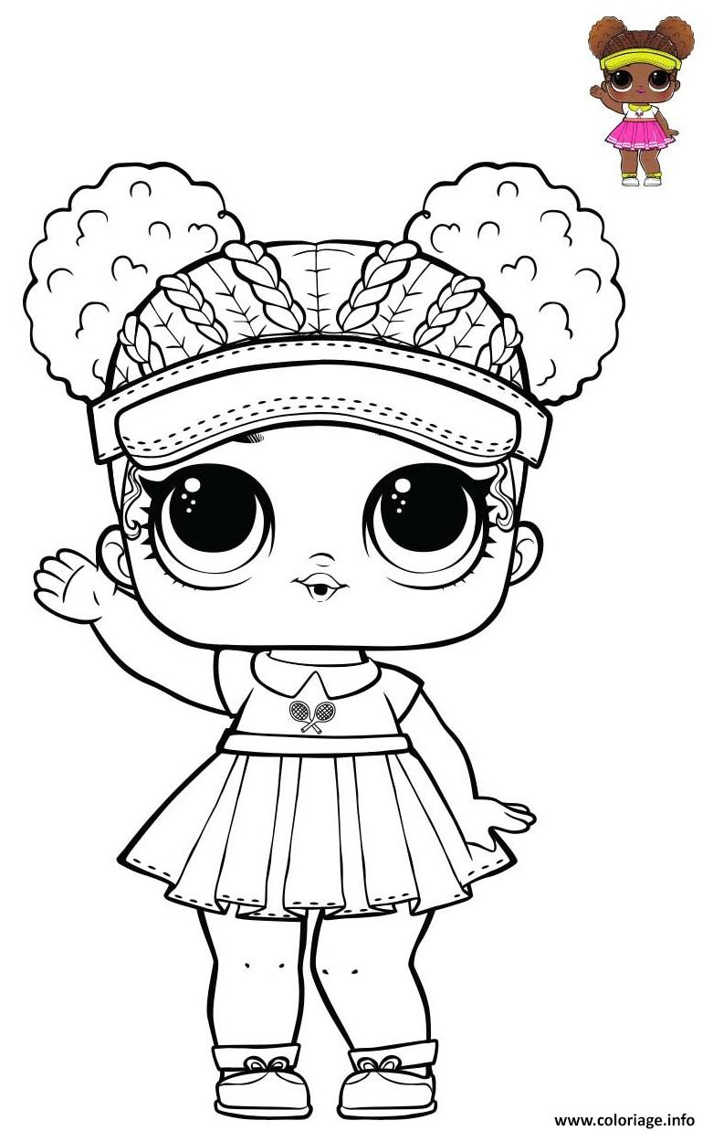 Coloriage Court Champ Lol doll Athletic Club series 2 Glam ...