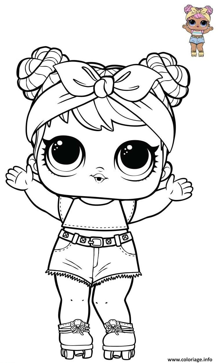 Dessin Dawn Lol doll from Opposites Bluc Series 3 Wave Coloriage Gratuit à Imprimer