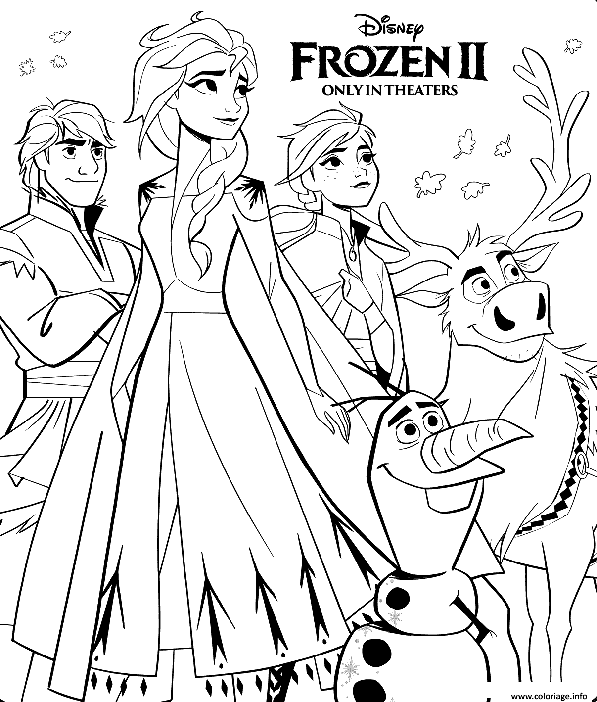 Coloriage Disney Frozen 2 dessin