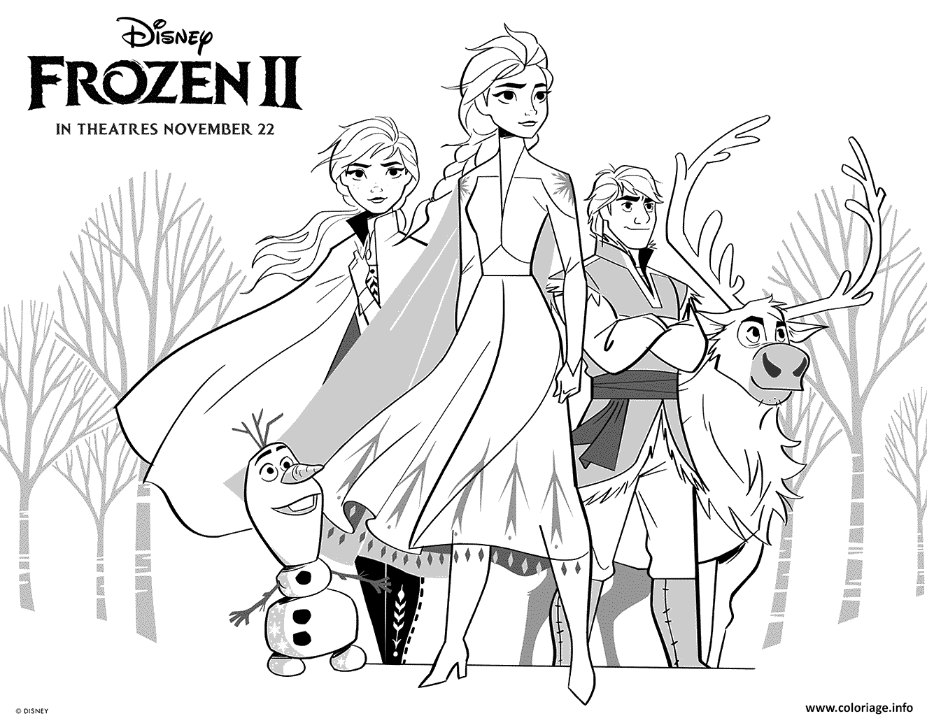 Coloriage Frozen 2 Princess Girls Dessin