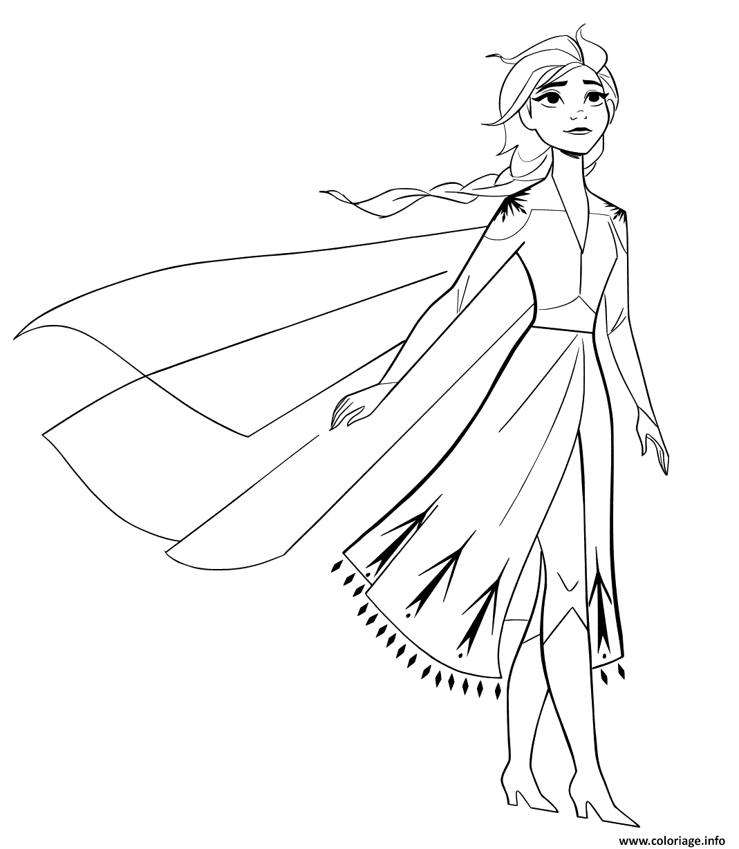 Coloriage Elsa From New Frozen 2 To Color Dessin