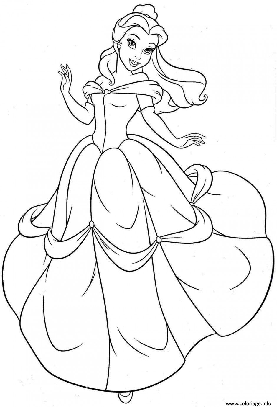 Coloriage La princesse Belle et la Bete de Gabrielle ...
