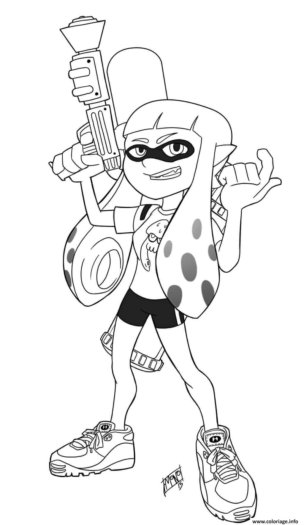 Coloriage Inklings Can Alternate Between Humanoid And Squid