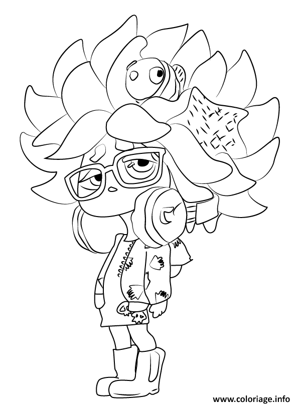 Coloriage Splatoon Game Girl Character Dessin
