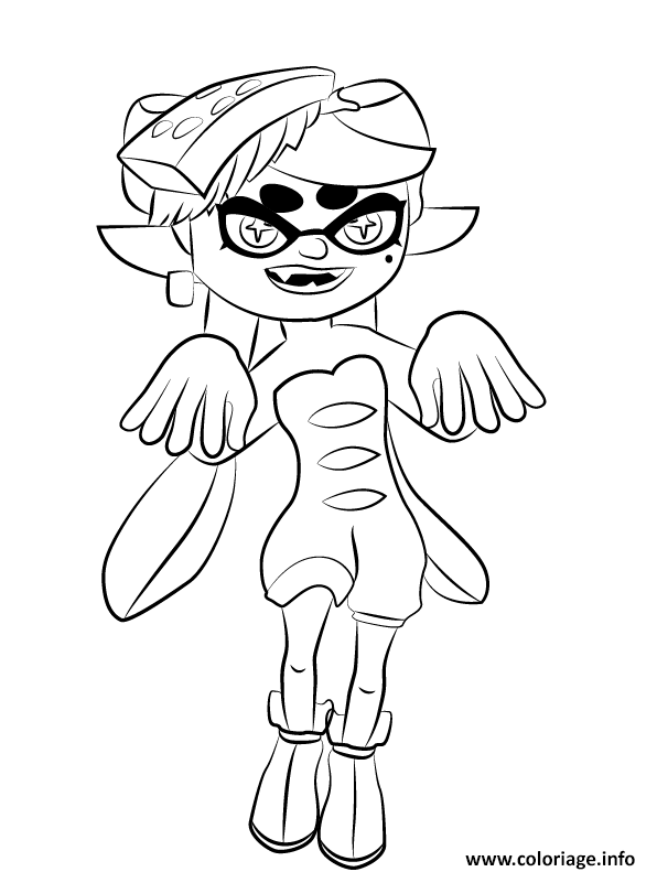 Coloriage Splatoon Squid Sister Idol Inkling Pop Duo Based