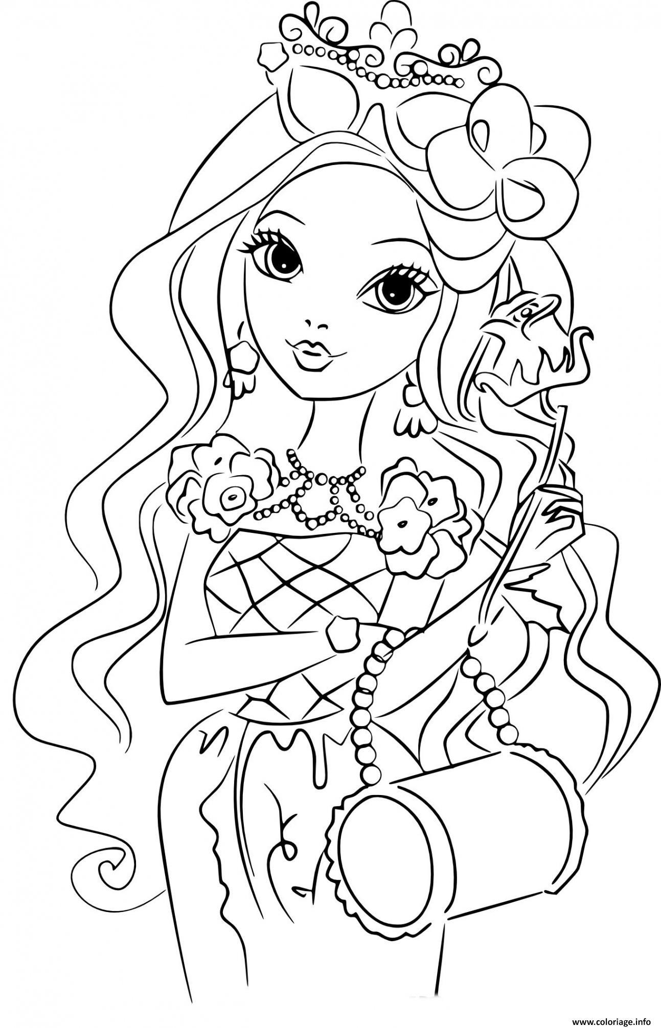 Dessin fille 8 ans barbie bimbo fashion Coloriage Gratuit à Imprimer