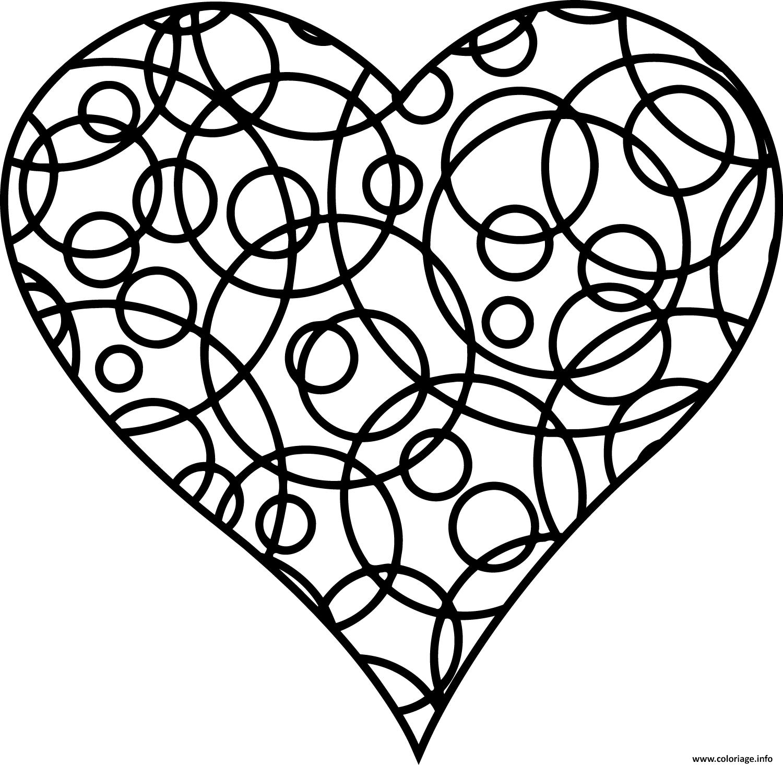 Dessin pattern cercle formant un coeur Coloriage Gratuit à Imprimer