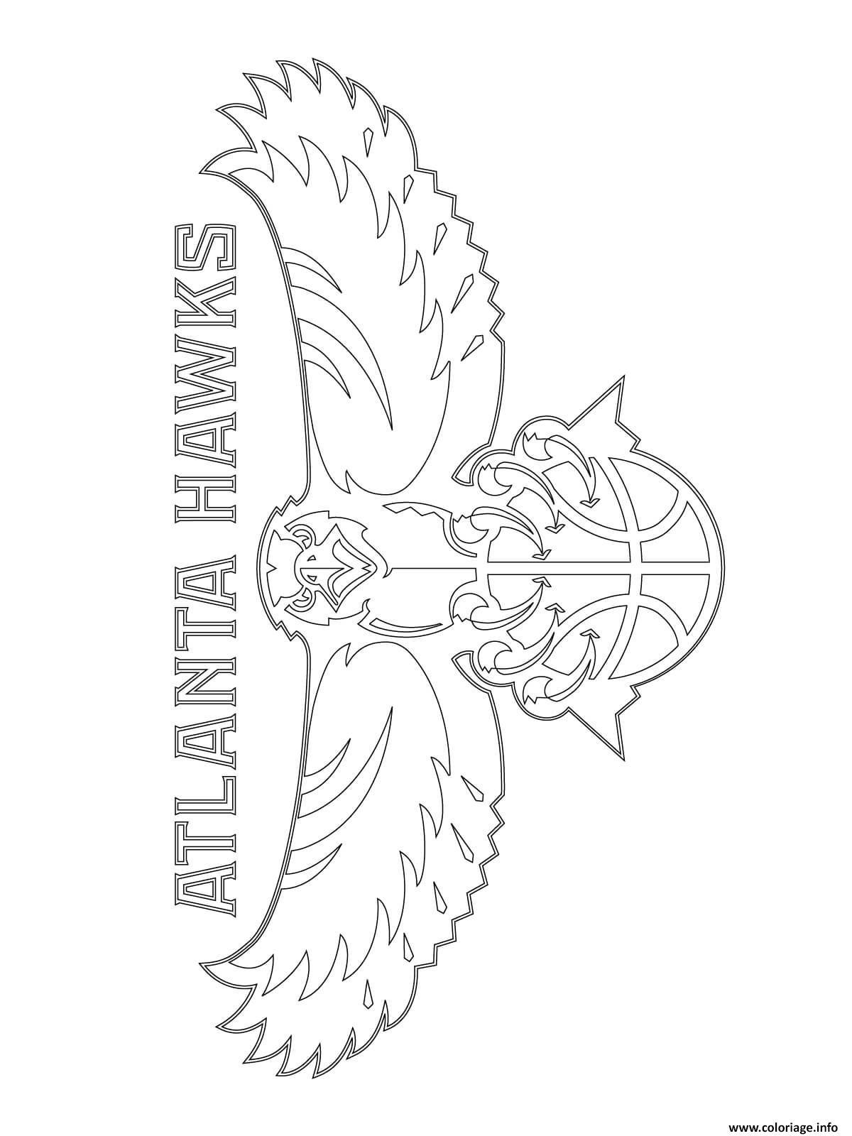 Dessin atlanta hawks logo nba sport Coloriage Gratuit à Imprimer