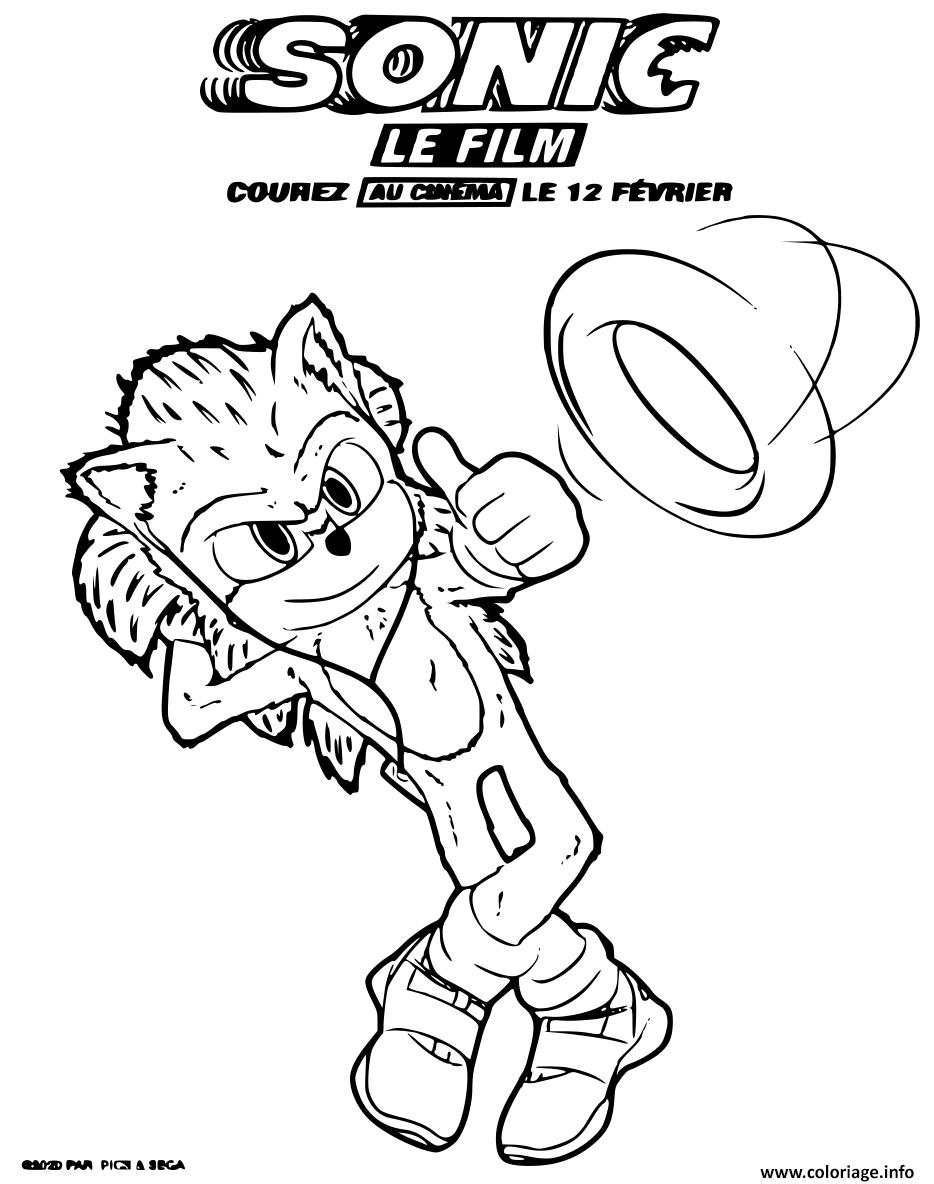 Coloriage Sonic Le Film 2020 Dessin