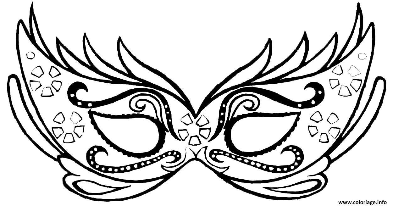Coloriage masque carnaval   JeColorie.com