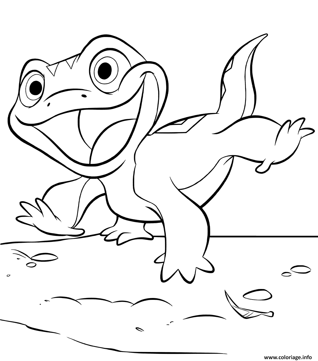 Coloriage Lizard Bruni De La Reine Des Neiges 2 Dessin