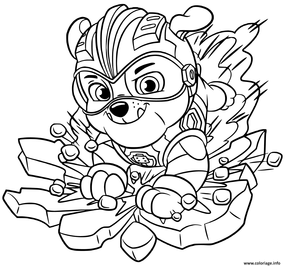 Coloriage Mighty Pups Rubbles Dessin Pat Patrouille A Imprimer