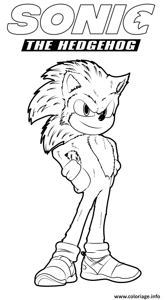 Coloriage Sonic The Hedgehog 2020 For Kids Jecolorie Com