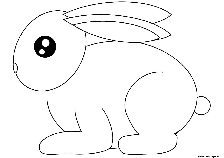 Dessin petit lapin pret a la course Coloriage Gratuit à Imprimer