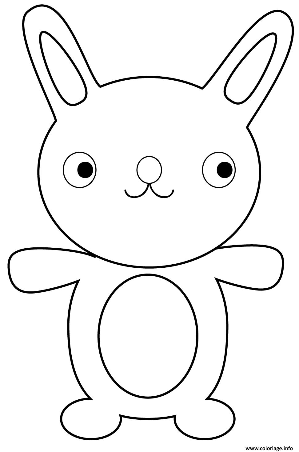 Dessin lapin dessin anime cartoon rigolo Coloriage Gratuit à Imprimer