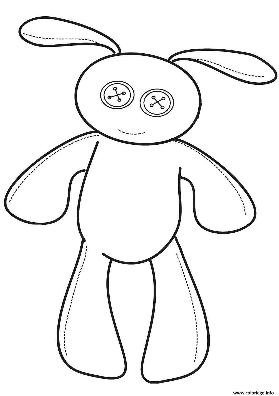 Dessin lapin peluche Coloriage Gratuit à Imprimer