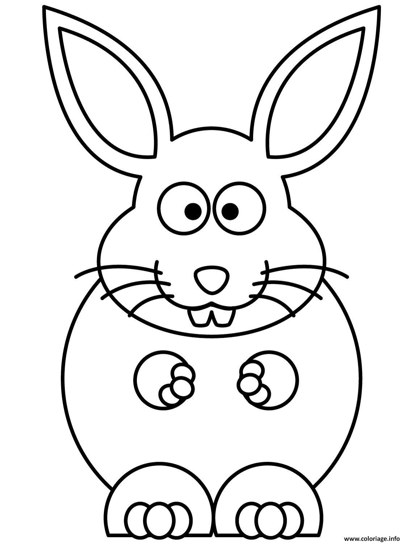 Dessin un gros lapin qui adore le chocolat Coloriage Gratuit à Imprimer