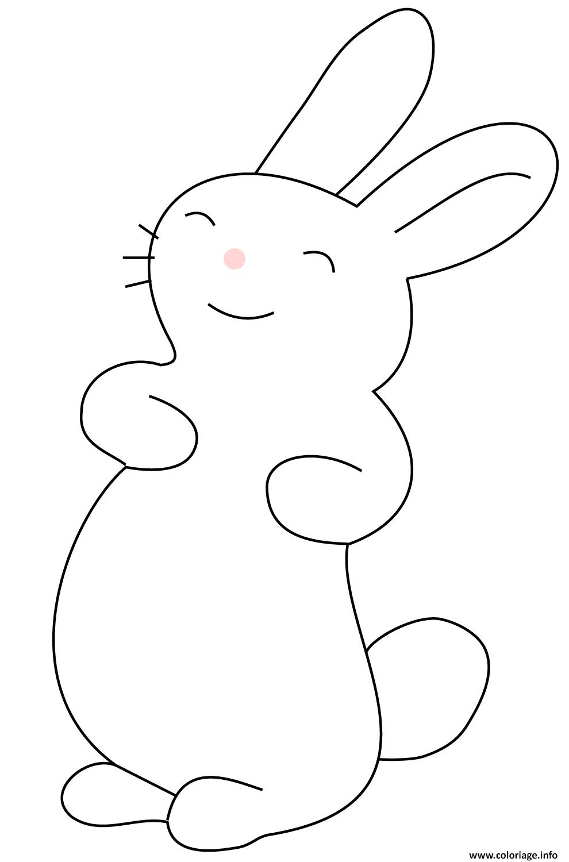 Dessin lapin kawaii bunny Coloriage Gratuit à Imprimer