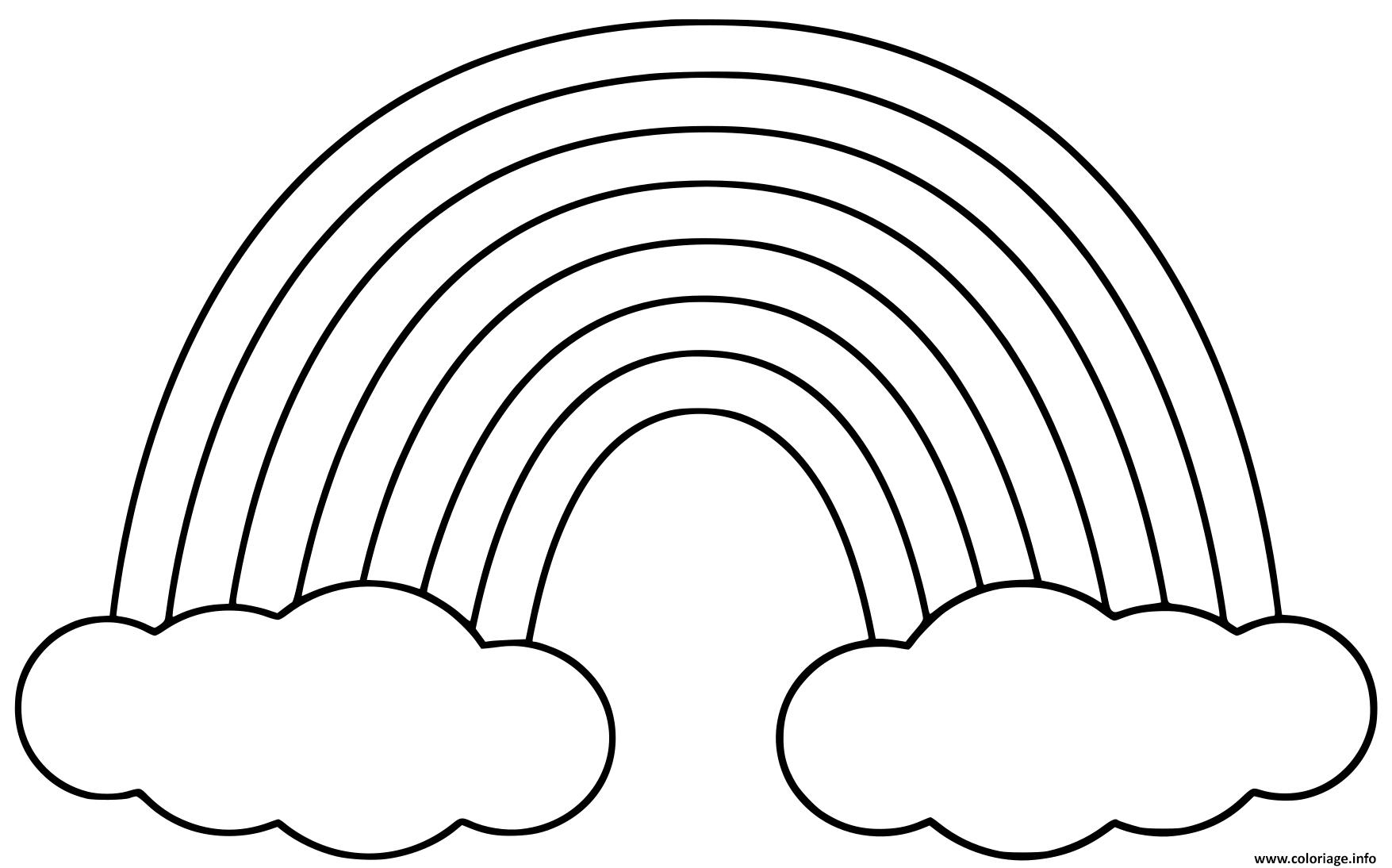 Coloriage Arc En Ciel Simple dessin