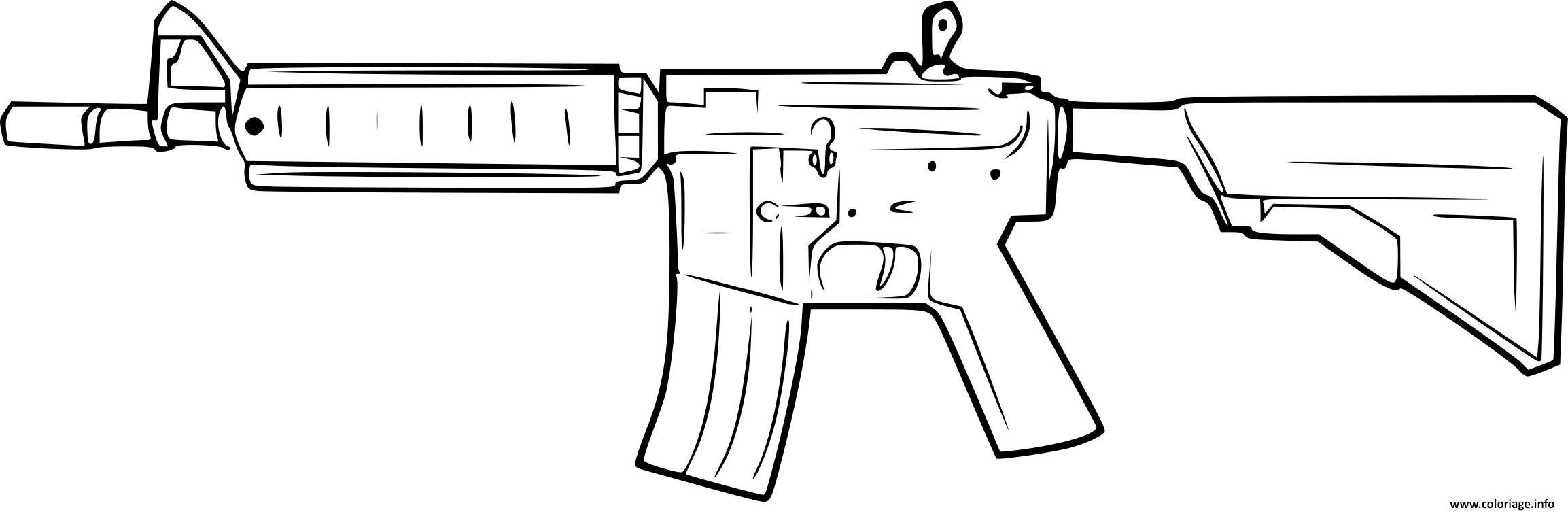 Dessin arme counter strike Coloriage Gratuit à Imprimer