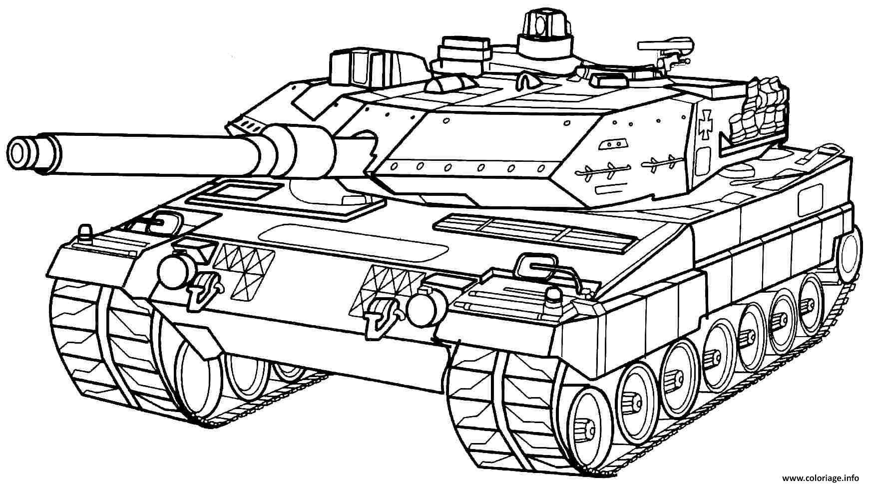 Coloriage Tank Char Dassault De Larmee Dessin Militaire à ...