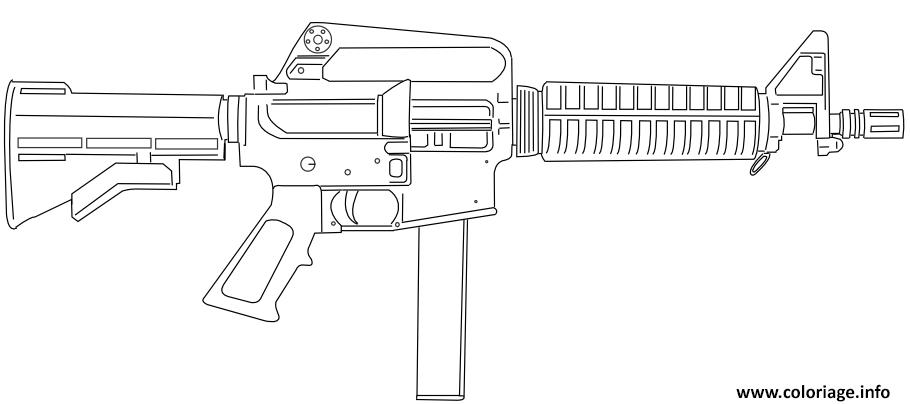 Dessin Evers Colt 9mm SMG Coloriage Gratuit à Imprimer