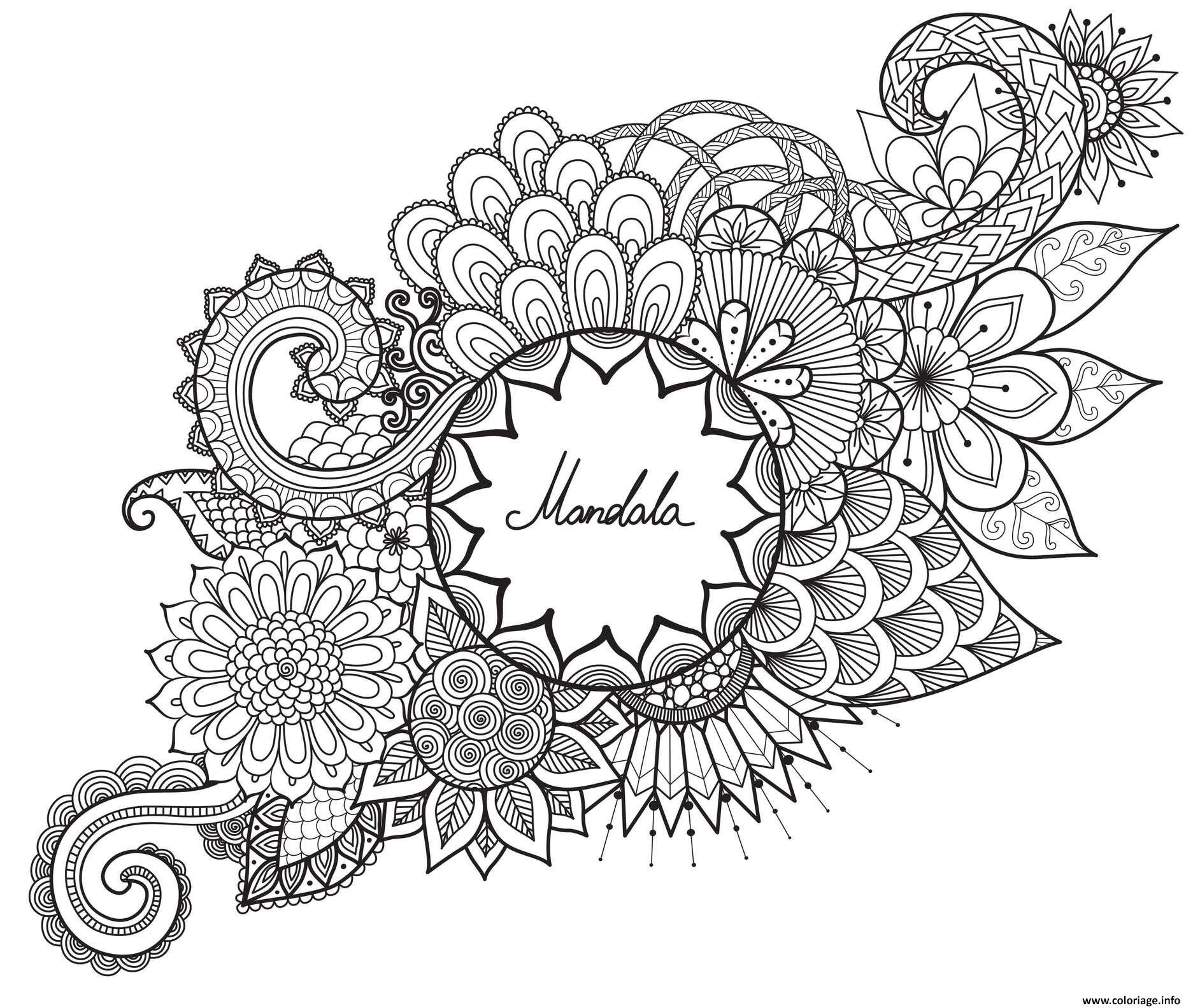Coloriage Mandala Fleurs Et Vegetations Anti Stress Par Bimbimkha Jecolorie Com