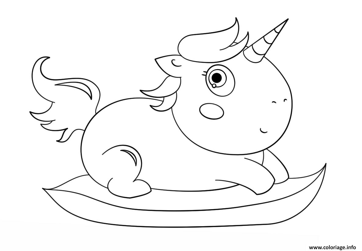 Coloriage Baby Chibi Licorne Dessin Licorne à imprimer