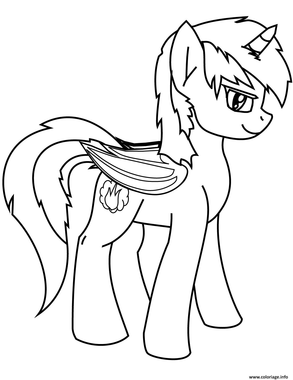 Dessin cute pony licorne 3 Coloriage Gratuit à Imprimer