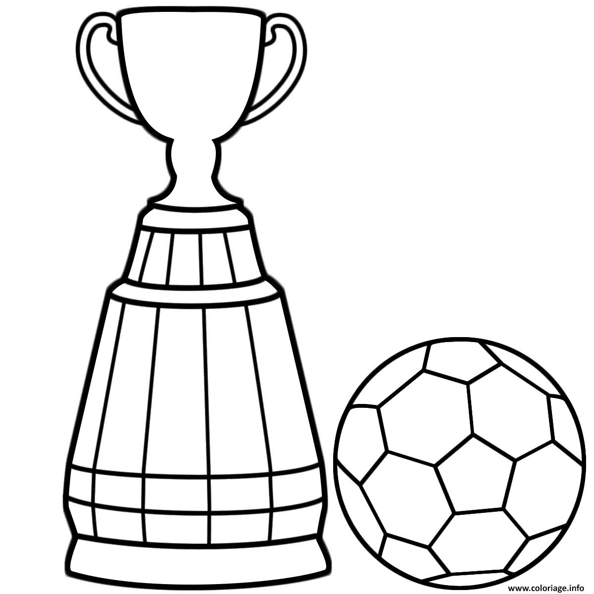 Dessin coupe de foot tournois Coloriage Gratuit à Imprimer