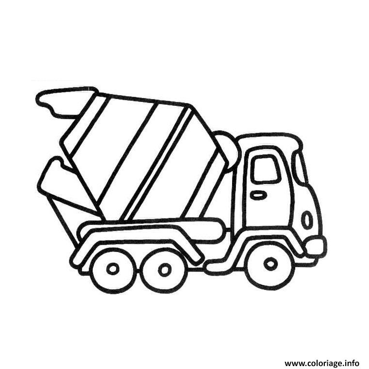 Dessin camion mercedes Coloriage Gratuit à Imprimer