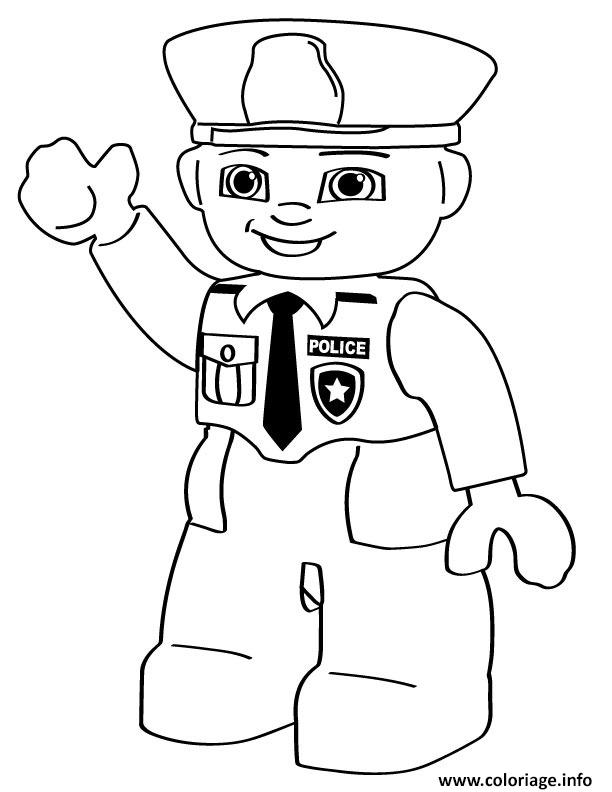 Dessin lego police man Coloriage Gratuit à Imprimer