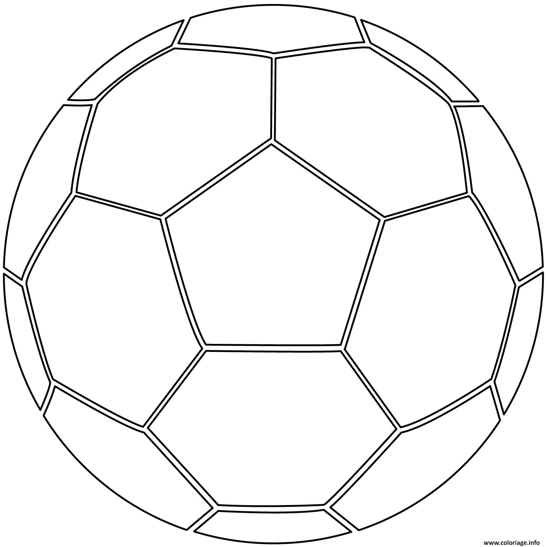 Dessin ballon de foot soccer Coloriage Gratuit à Imprimer