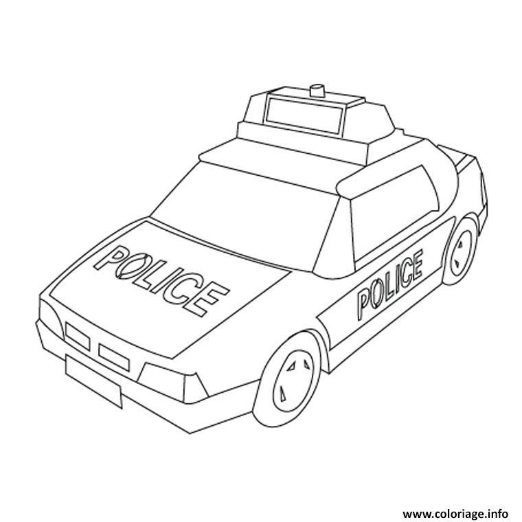 Coloriage Camion De Police dessin