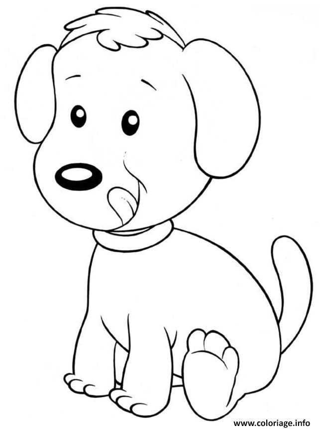 Dessin chien enfant facile maternelle Coloriage Gratuit à Imprimer
