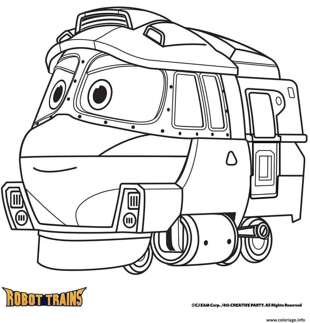 Coloriage La Locomotive Kay Robot Train Dessin Robot A Imprimer