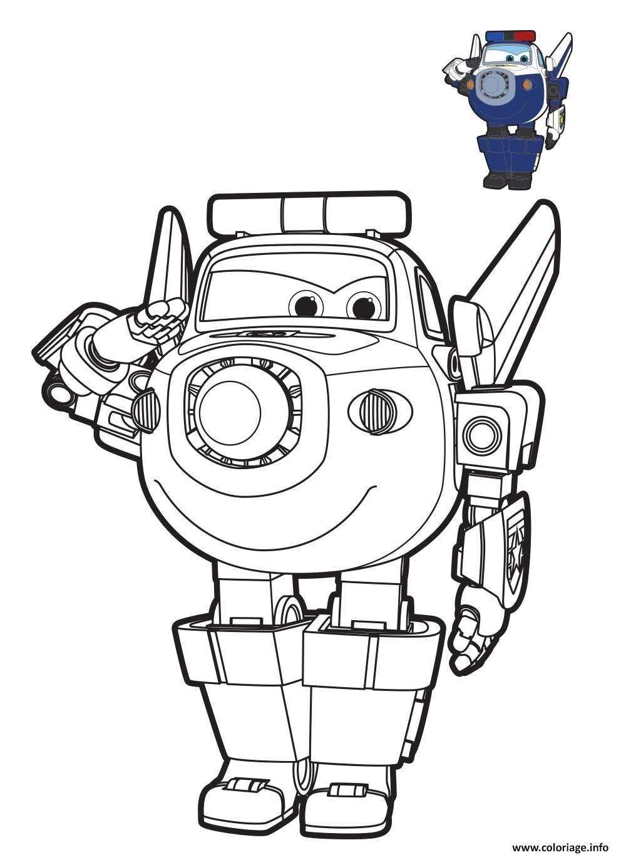 Coloriage Police Robot Train Dessin Robot A Imprimer