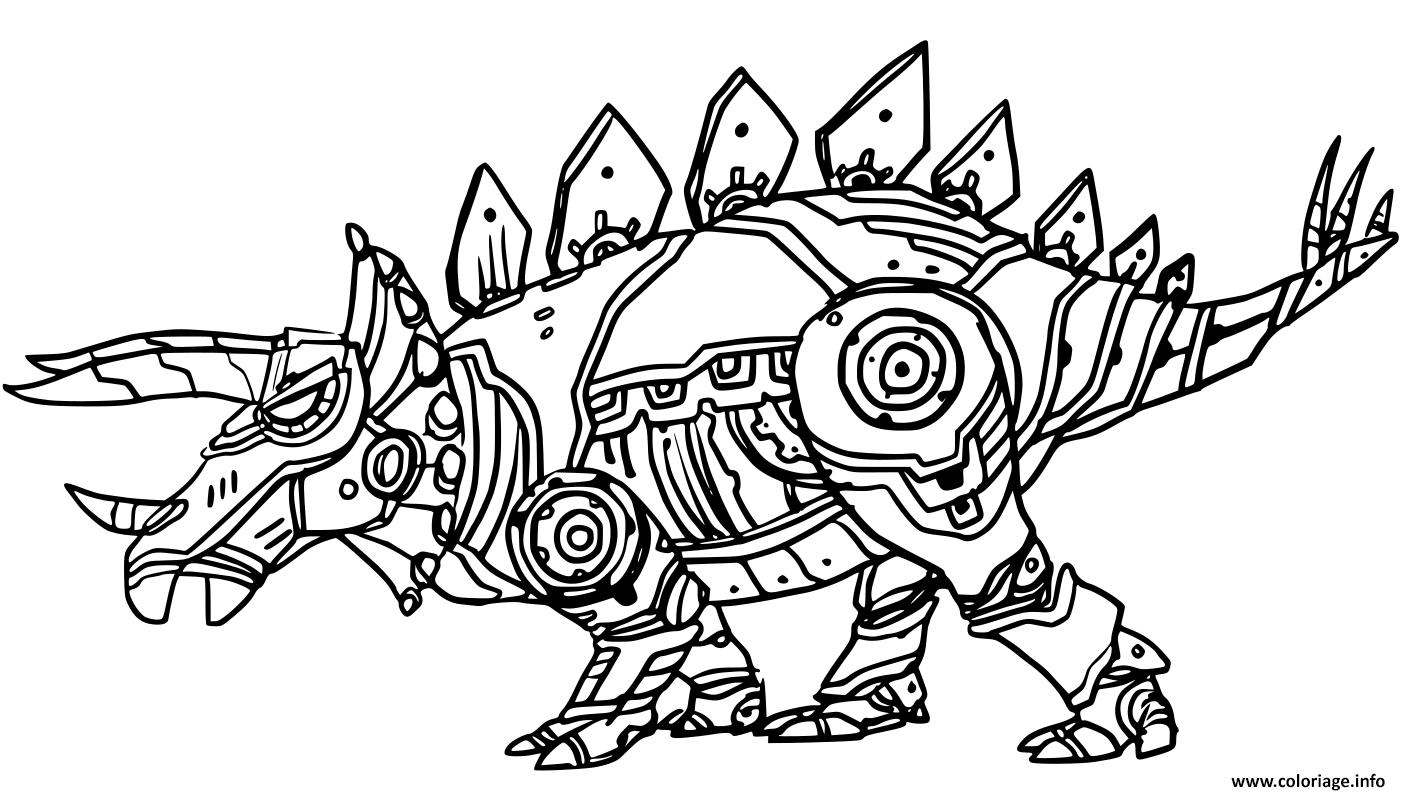 Coloriage Robot Dinosaure Styracosaure Dessin Robot A Imprimer