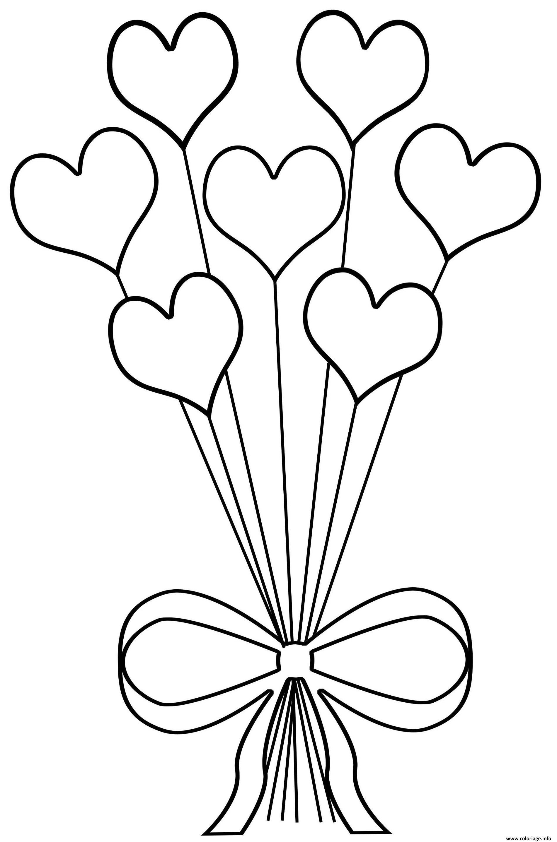 Coloriage Original Bouquet De Fleur En Coeur Jecolorie Com