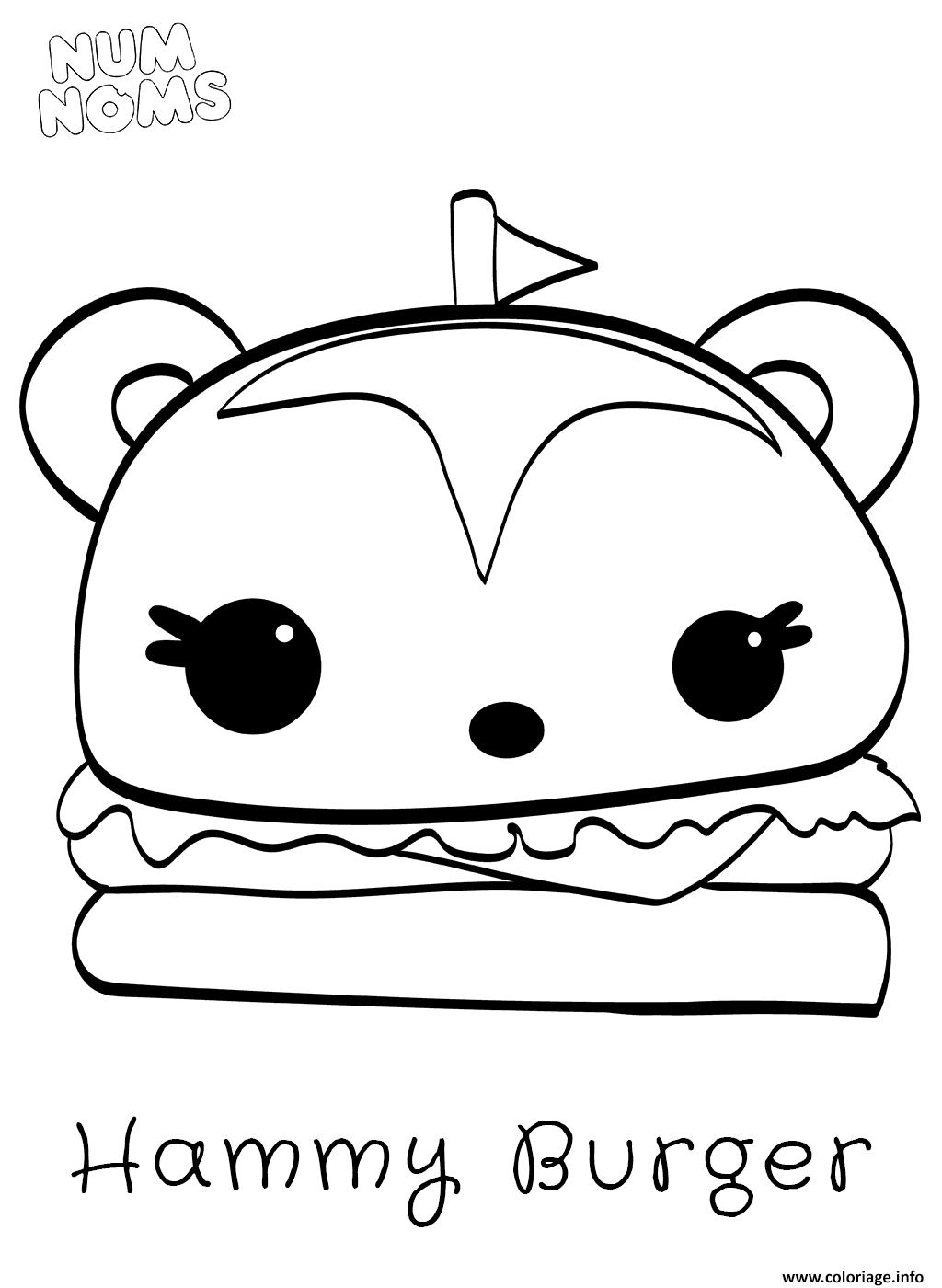 Coloriage Hammy Burger Dessin Num Noms à imprimer