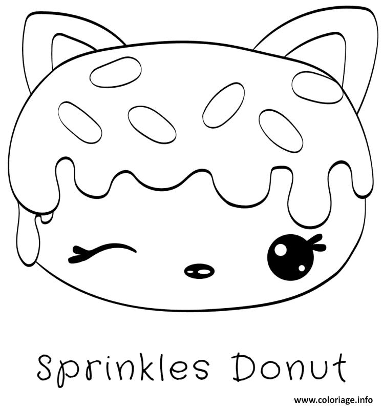 Dessin sprinkles donut Coloriage Gratuit à Imprimer