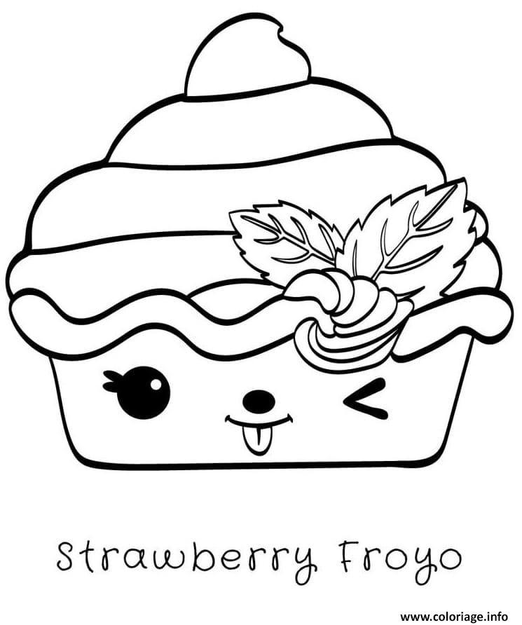 Dessin Strawberry Froyo Nums Coloriage Gratuit à Imprimer