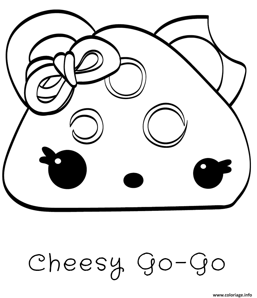 Dessin cheesy go go Coloriage Gratuit à Imprimer
