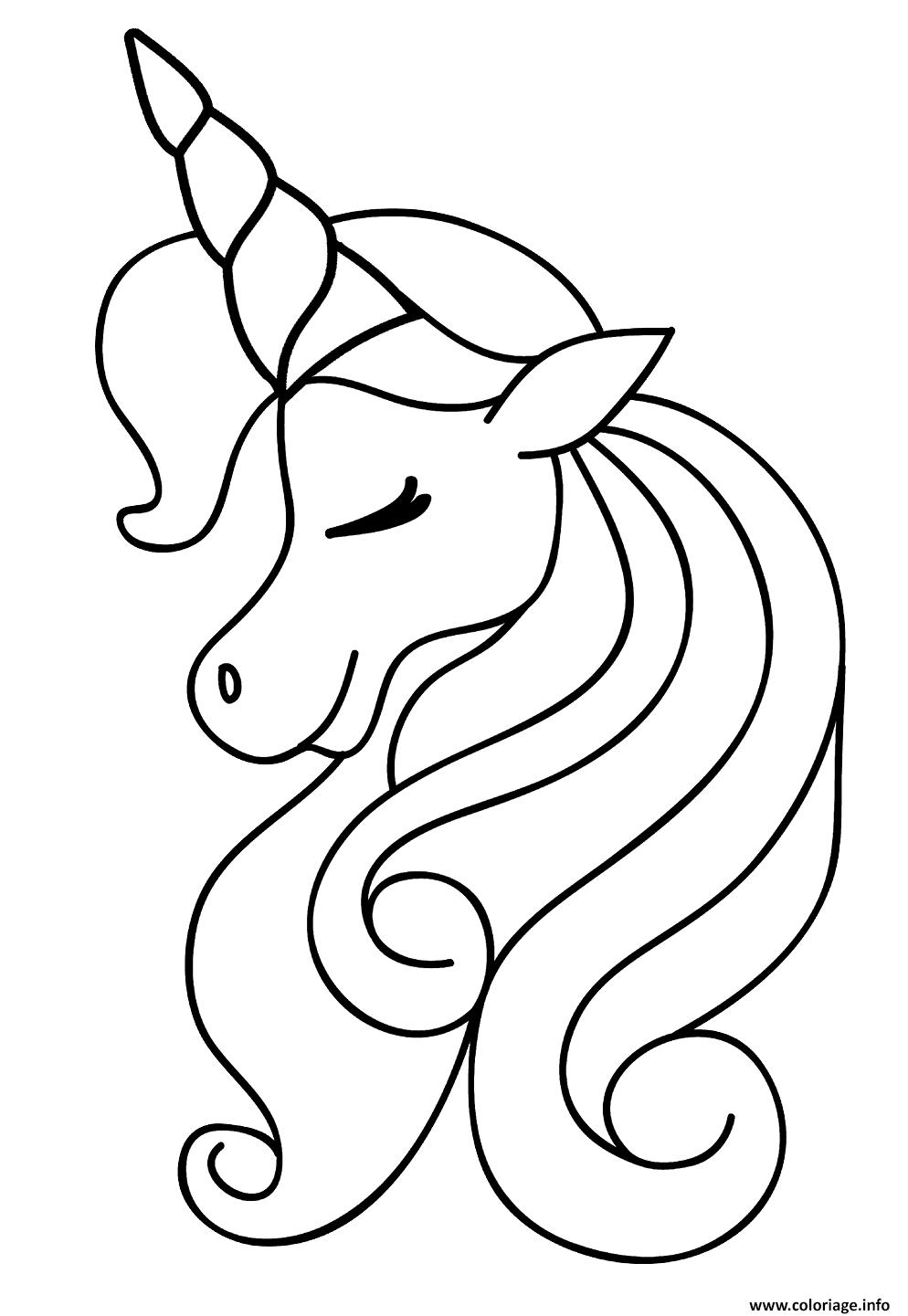 Dessin licorne magique beaute princesse Coloriage Gratuit à Imprimer