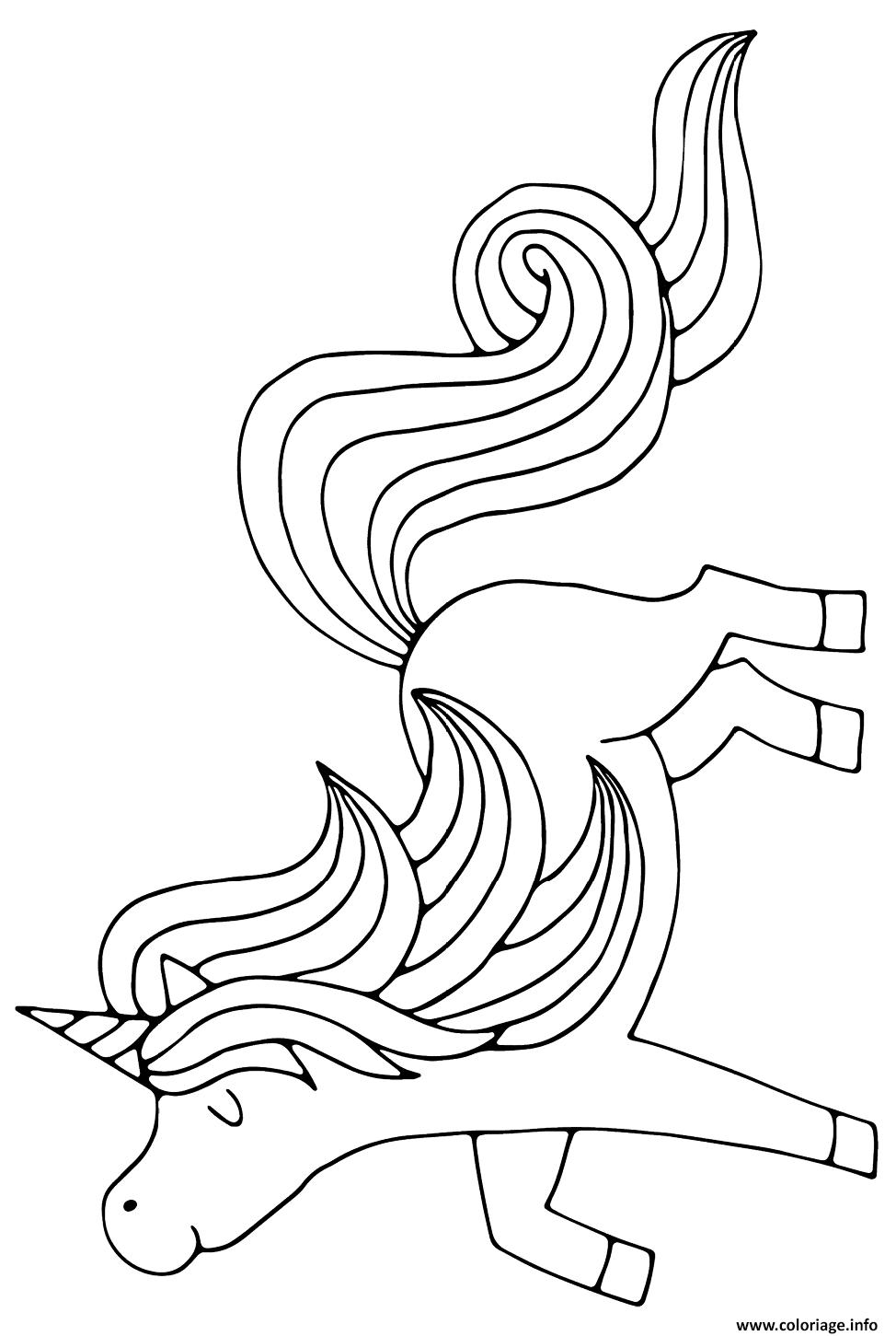 Dessin licorne magique pour princesse A4 Coloriage Gratuit à Imprimer