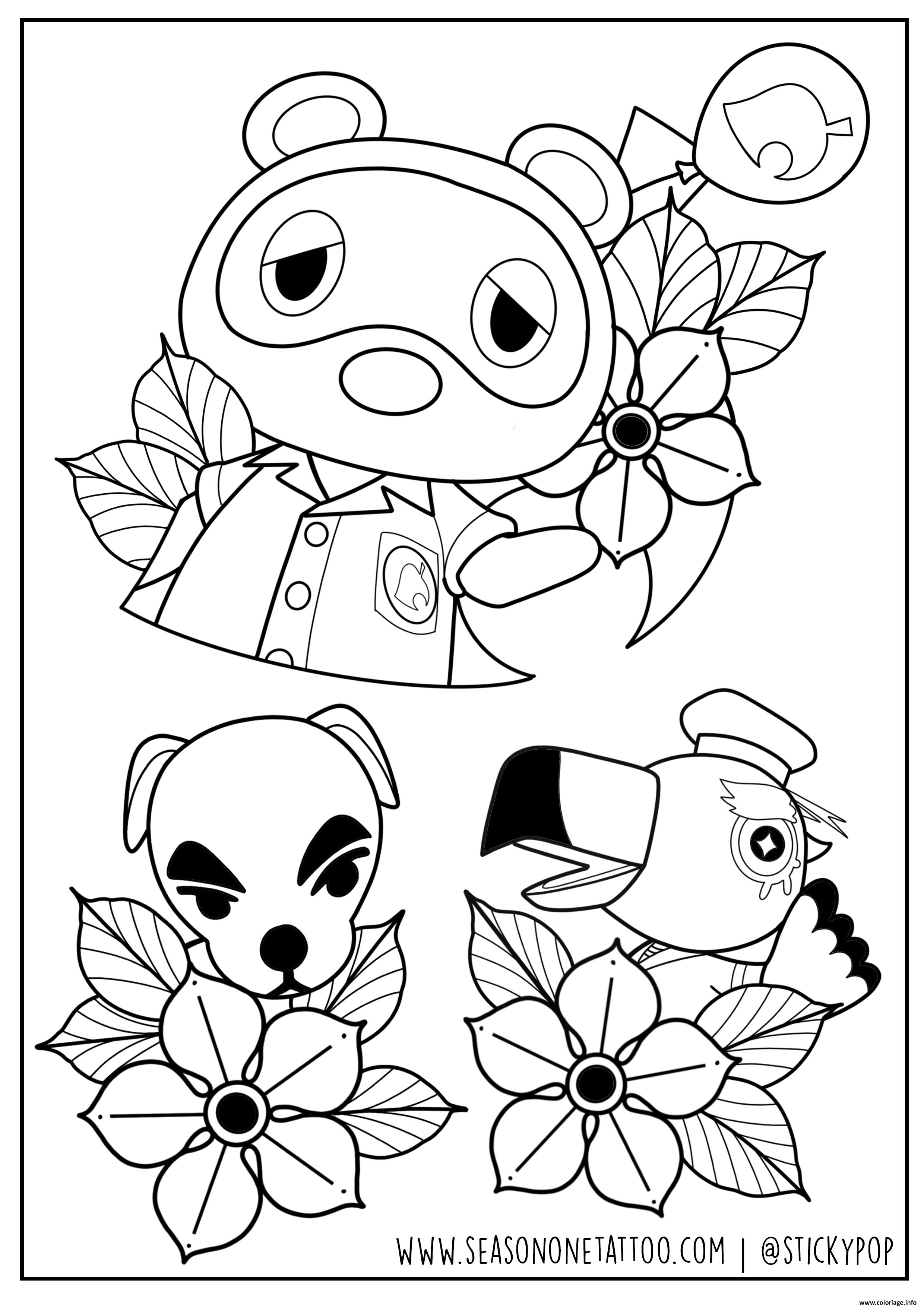 Dessin Animal Crossing by Stickypop Coloriage Gratuit à Imprimer