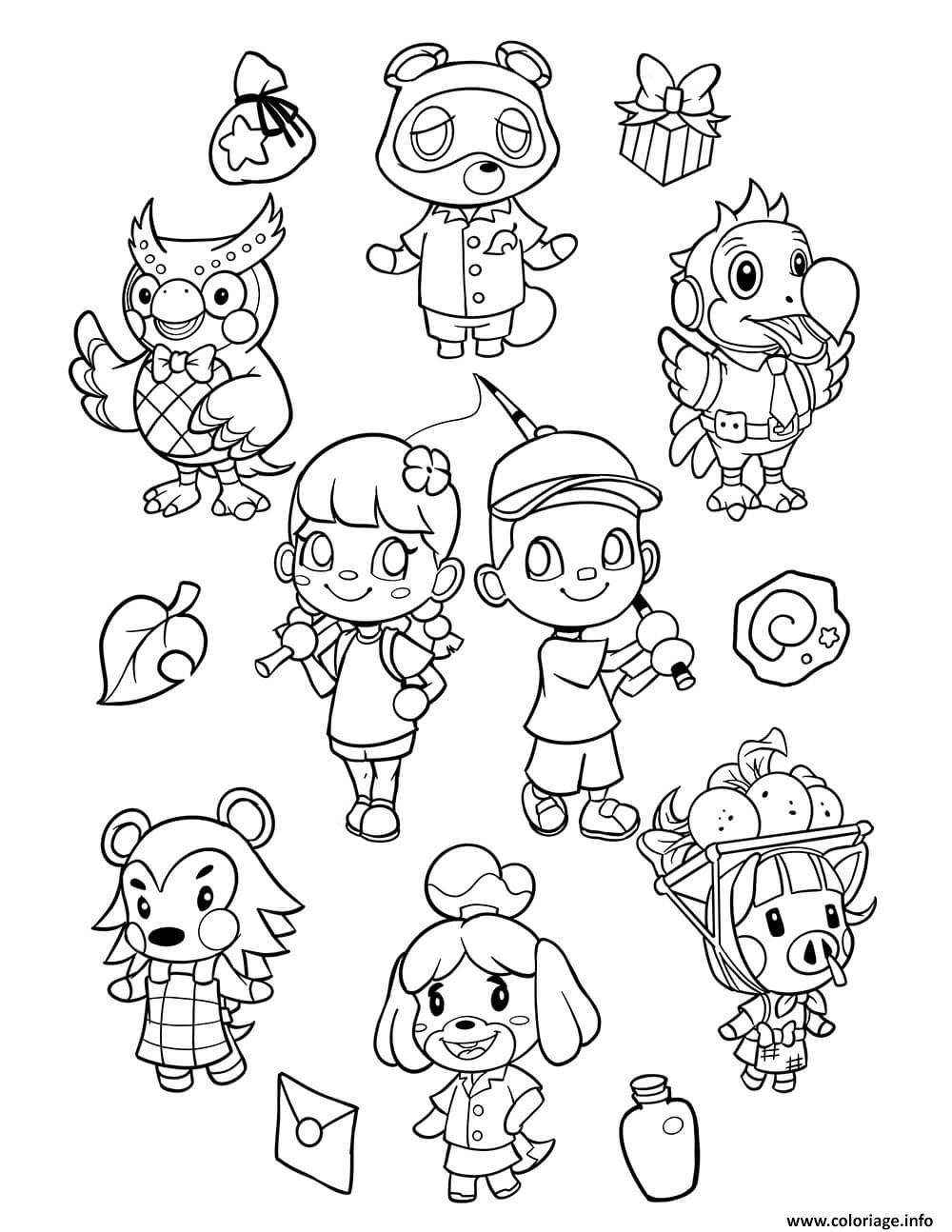 Dessin animal crossing new horizons Coloriage Gratuit à Imprimer