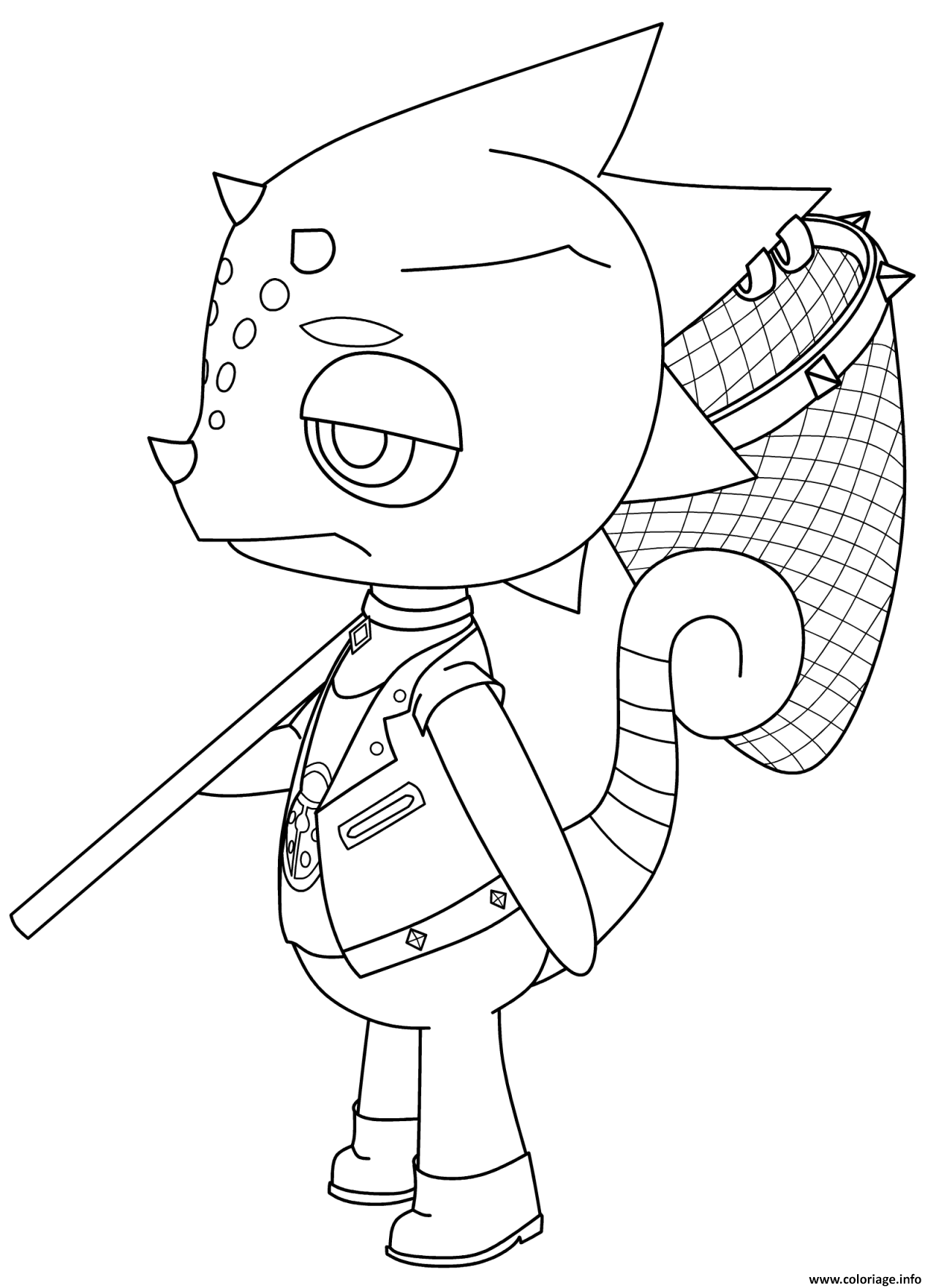Dessin fan art animal fishing Coloriage Gratuit à Imprimer