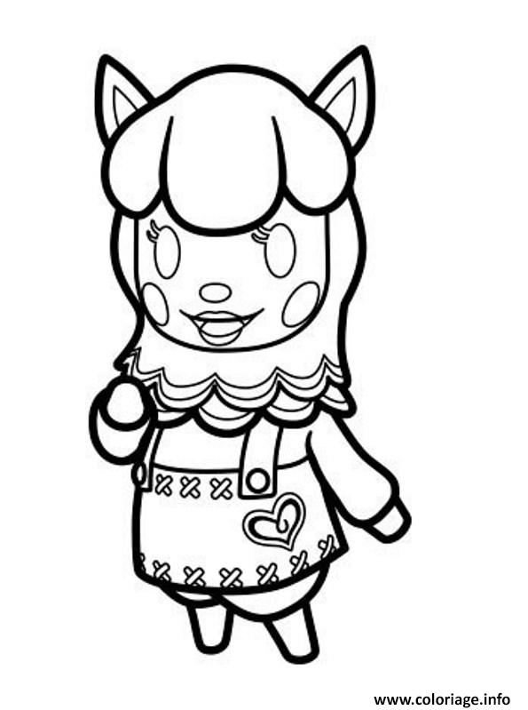 coloriage animal crossing 2  jecolorie