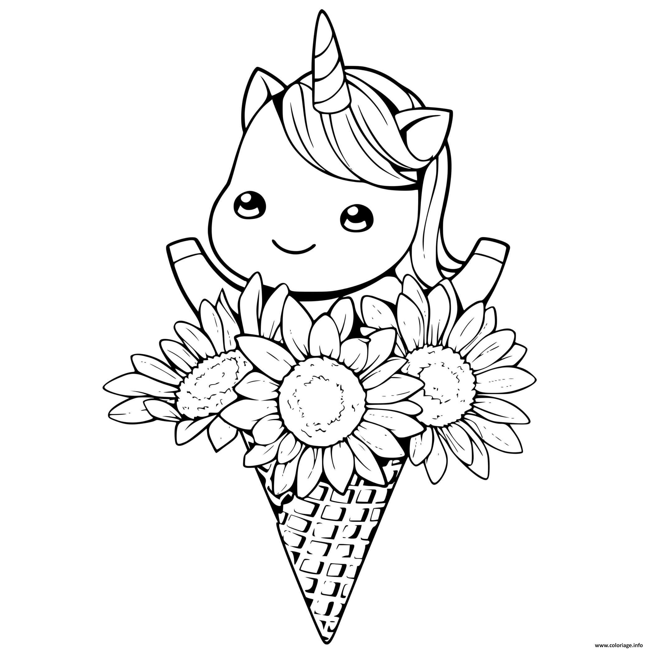 Livre De Coloriage Licorne Coloriage Licorne Dans Un Bouquet De Fleurs Dessin